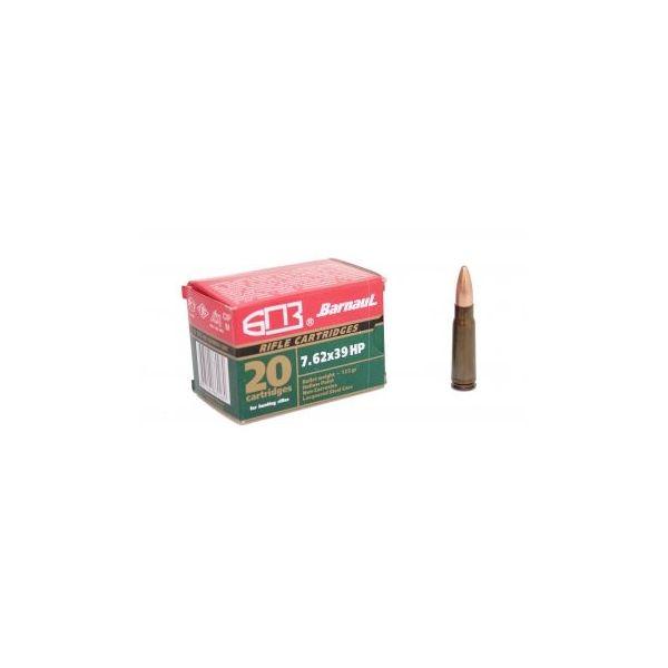 Nabój kulowy BARNAUL kal.7,62x39 - 8,0 g HP (1 opakowanie 20 szt.)